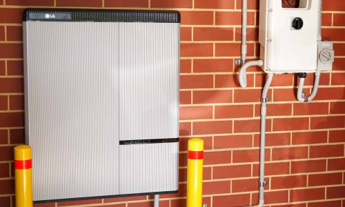 LG lithium ion home battery and Solar Edge inverter solar panel system.